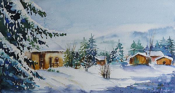 Paysage du Haut Doubs 40 x 25
