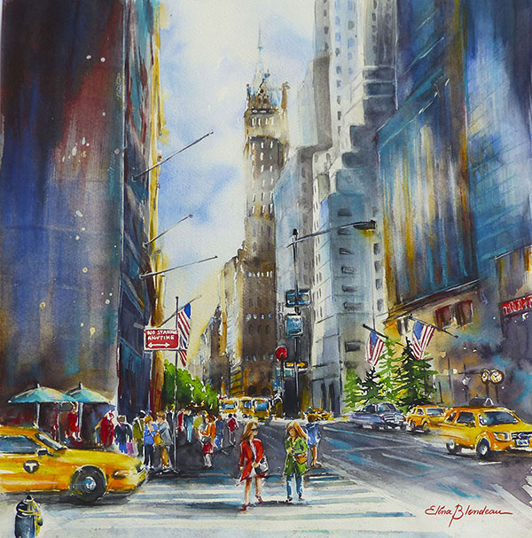 Scene de rue NYC 1 50 x 50 vendue