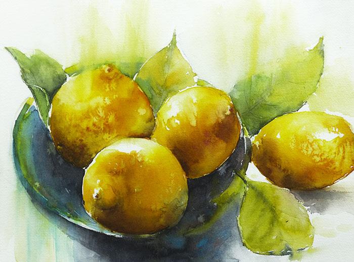 Les citrons 40x30
