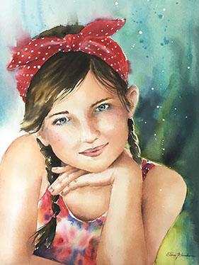 Portrait petite fille 36 x 48
