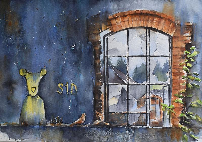 Fenêtre sur Friche de Wesserling 70 x 50