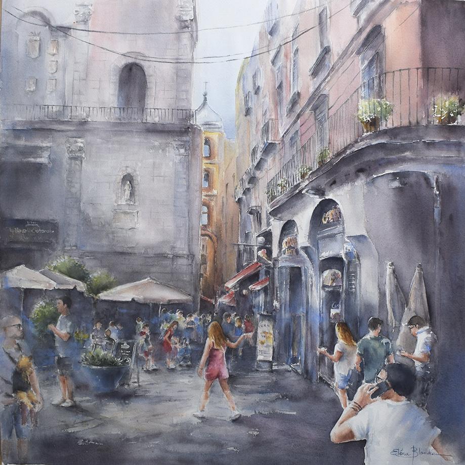 Matin d'été à Naples 75 x 75